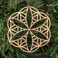 Seed-Flower 1' Ornament - Sacred Geometry - Laser Cut Wood