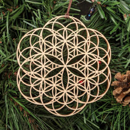 'Seed-Flower 2' Ornament - Sacred Geometry - Laser Cut Wood