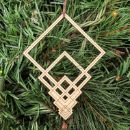Square Cascade Ornament - Sacred Geometry - Laser Cut Wood
