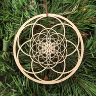 Fibonacci Seed of Life Ornament - Sacred Geometry - Laser Cut Wood