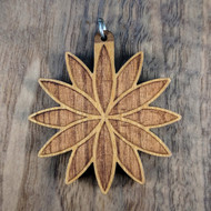 Seed Lotus in Cherry Hardwood