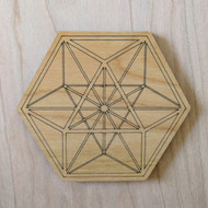 Vector Equilibrium Drink Coasters - Set of 4