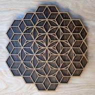 Isometric Seed of Life Two Layer Wall Art