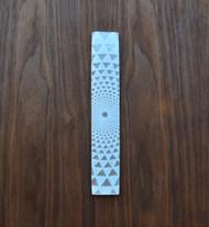 Phi Triangle Grid Engraved Selenite