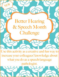 Better Hearing & Speech Month Staff Challenge