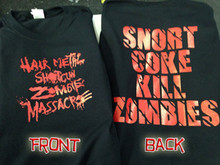 Hairmetal Shotgun Zombie Massacre T-Shirt
