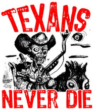 Texans Never Die Raglan