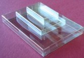 "2 1/8"" x 3 5/8"" Business Card Clear Box - BXBC"