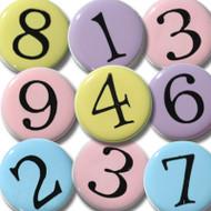 Pastel Number Brads