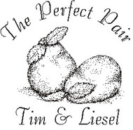 The Perfect Pair Custom Rubber Stamp