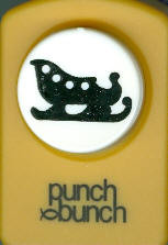 Sleigh Silhouette Punch