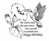 Happy Birthday Hummingbird - 127W02
