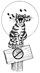 Singing Cat Rubber Stamp - 27A01