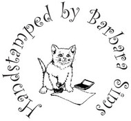 Cat Handstamped Custom Rubber Stamp