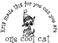 Cool Cat Custom Rubber Stamp