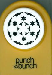 Elegant Fower Round Frame Punch