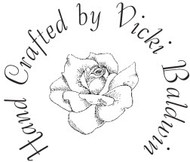 Rose Custom Rubber Stamp