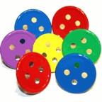 Button Bright Large Brads