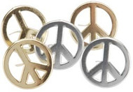 Peace Sign Brads