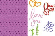 Love Language Embossing Folder & Cutting Die