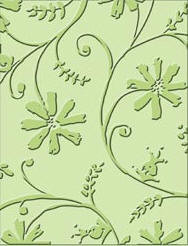 Stylized Flowers Embossing Folder