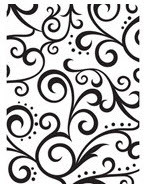 Scrolls Background Embossing Folder