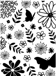 Floral Butterflies Embossing Folder