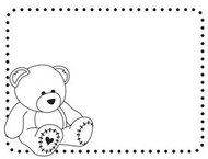 Baby Bear Embossing Folder