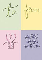 To From Embossing Folder Set