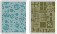 Gifts, Ornaments & Snowflakes Embossing Folder Set