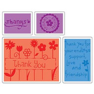 Thank You Embossing Folder Set