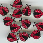 Ladybug Brads