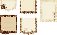 Journaling Tags Brun Antique Reverie