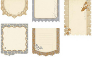 Journaling Tags Metallique Reverie