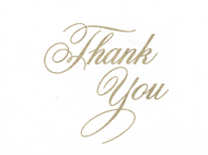 Thank You Gold Note Cards
