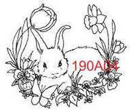 Bunny with Butterfly - 190A04