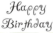 Happy Birthday - 135W02