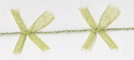 Celery Organdy Bow Cord