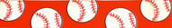 Baseball Grosgrain Ribbon