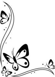 Butterflies in Corner Embossing Folder
