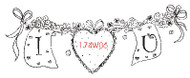 I Love You Rubber Stamp - 174W06