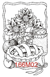Apple Pie Rubber Stamp - 166M02