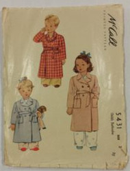 Vintage McCalls 5431 Sewing Pattern