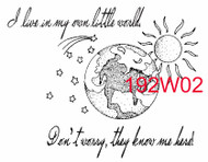 Own Little World Rubber Stamp - 192W02