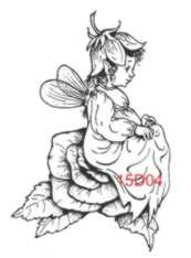 Cabbage Rose Fairy Rubber Stamp - 15D04