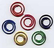 Metallic Assorted Mini Spiral Clips