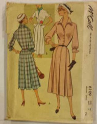 Vintage McCalls 8109 Sewing Pattern