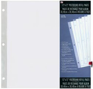 """Westrim Crafts 12"""" x 12"""" Postbound Refill Pages - 5 pk"""