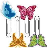 Butterfly Softies Paper Clips