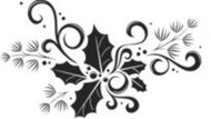 Holly Rubber Stamp